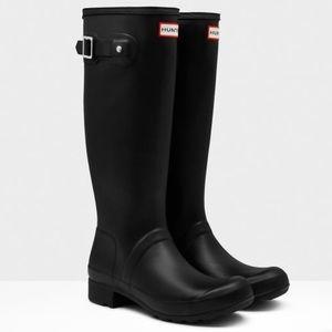 Black Matte Tall Hunter Boots👢(With Socks!)